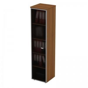 Шкаф для документов со стеклянной дверью в рамке узкий 46x46x197