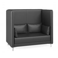 Двухместный диван c высокой спинкой Графит Euroforma