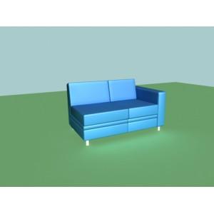 2-х местная диванная секция A-02