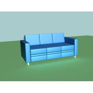 Диван-кровать трехместный A-02