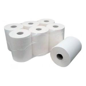 Полотенца бумажные рулонные 2-х слойные комплект 6 шт., 190 м, белые