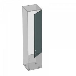 Дверь стеклянная с фурнитурой (45x0x130)