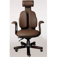 Ортопедическое кресло Сabinet DW-130 (обивка натур. кожа крестовина дерево палисандр)