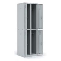 Шкаф разборный металлический двухсекционный с 4-мя отделениями ШРМ - 24