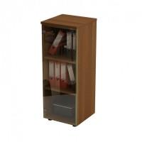 Шкаф для документов средний узкий со стеклянной тонированной дверью 46x46x120